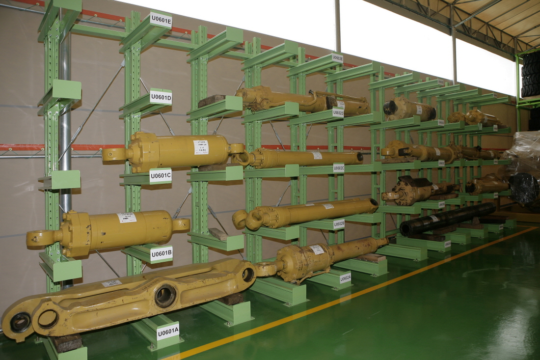 Used parts warehouse keeps and manages used components